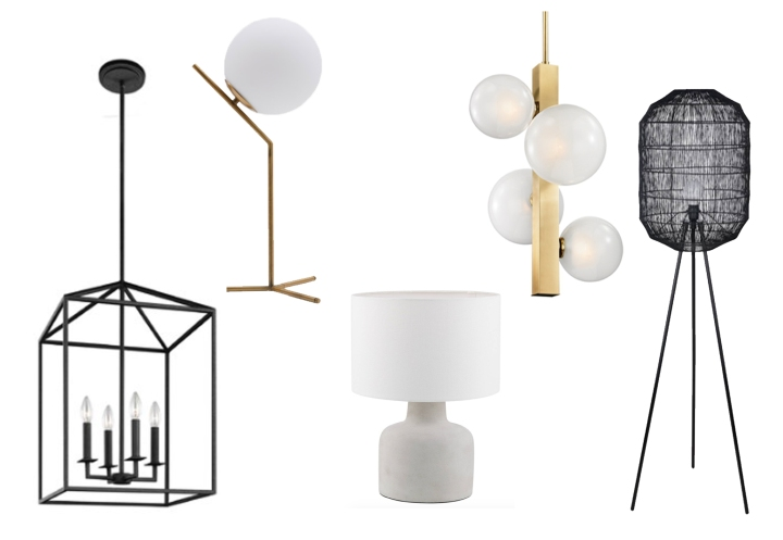 Light Fixtures from Wayfair, Structube, Urban Barn and Bouclair