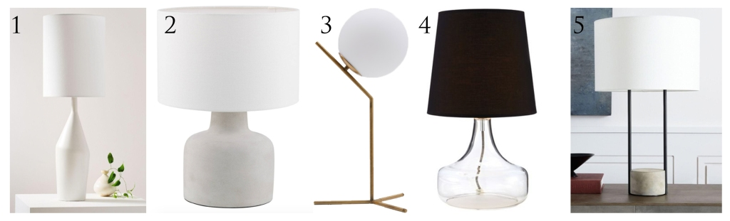 Table Lamps West Elm Structube Bouclair Canadian Tire