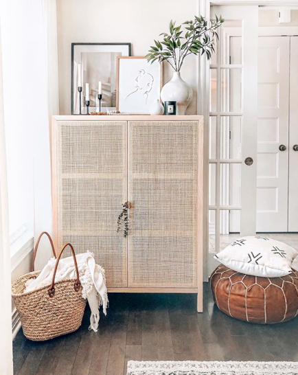 Example of Ikea Stockholm Cabinet via houseofhire on Instagram