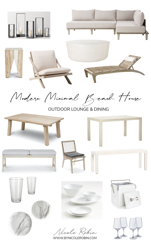 Modern Minimal Beach House inspired Outdoor Lounge & Dining Furniture & Favourites