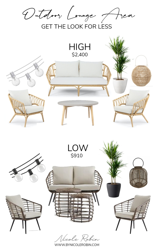 Outdoor Lounge Furniture Look For less Boho Beachy High low