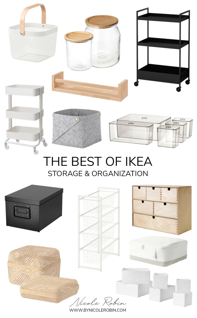 The Best Storage & Organization Solutions from IKEA for a chic and put together space