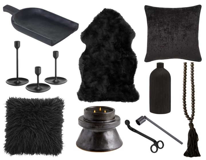 Black Home Decor & Accessories for a Chic Halloween Aesthetic