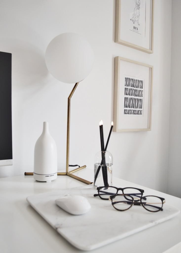 Home Office Essentials Blue Light Glasses Everlasting Candle Structube Lamp Saje Diffuser