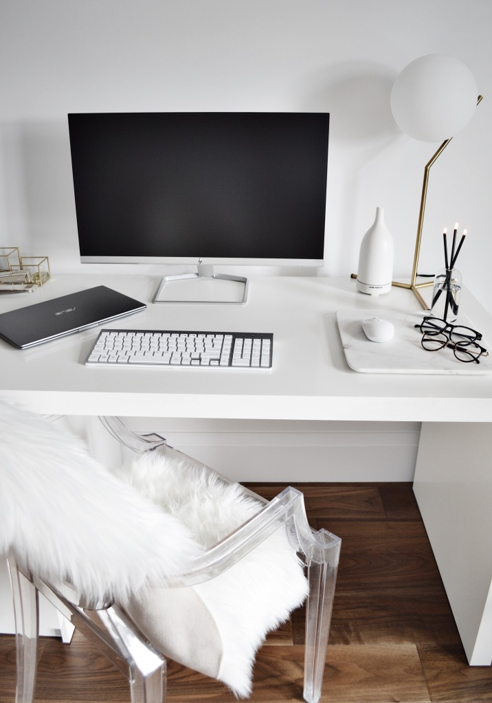 Home Office Essentials Blue Light Glasses Everlasting Candle Structube Lamp Saje Diffuser HP Monitor ASUS Zenbook