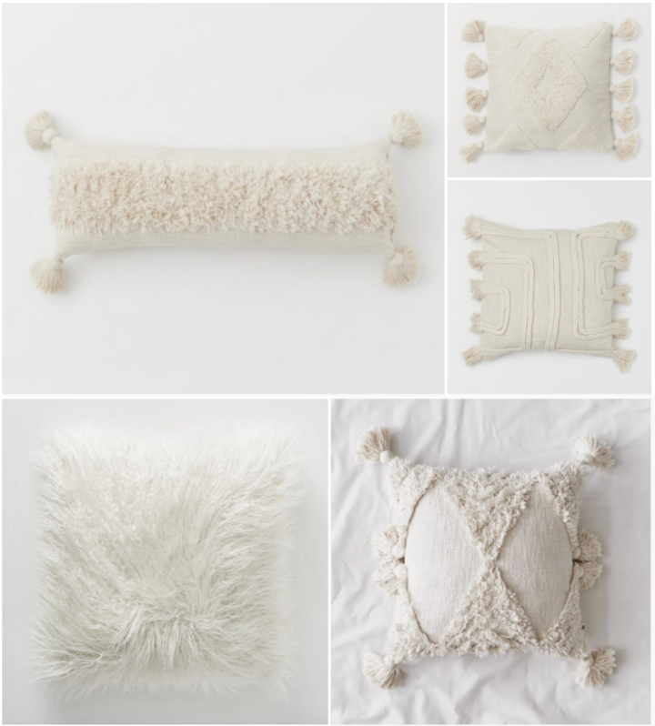 Sunday Favourites: Warm White Textured Throw Pillows